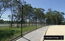 Black PVC Chainwire Fencing