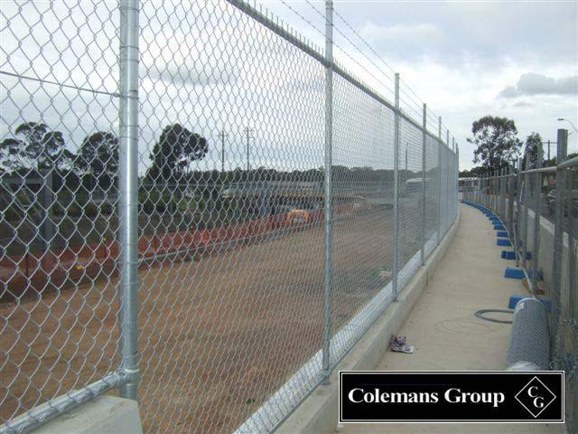 Galvanised Chainwire Fencing