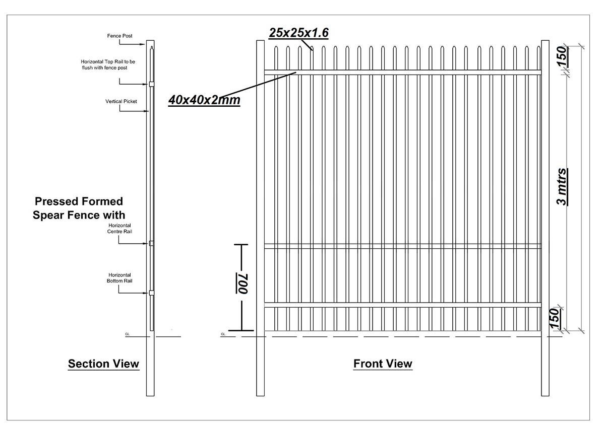 Pressed Form Spear High Security Fencing Colemans Fencing
